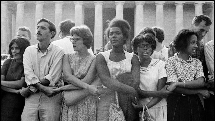 "This August 28, 1963 publicity photo provided by PBS, courtesy Leonard Freed/Magnum Photos, shows activists during The March on Washington in Washington, D.C. from the film,""Makers: Women Who Make America."" The Women's Movement was influenced in part by the Civil Rights Movement. The three-hour PBS documentary about the fight for women's equality, airs Tuesday, Feb. 26, 2013, and features prominent activists including Gloria Steinem and Marlo Thomas. (AP Photo/PBS, Courtesy Leonard Freed, Magnum Photos)"