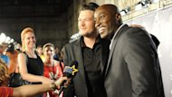 Blake Shelton and Jermaine Paul chat with Access Hollywood at 'The Voice' finale in Los Angeles on May 8, 2012 -- Access Hollywood