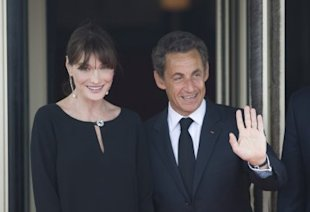 Bruni and Sarkozy welcomed a baby girl on Wednesday. (Photo by Pool/Getty Images)