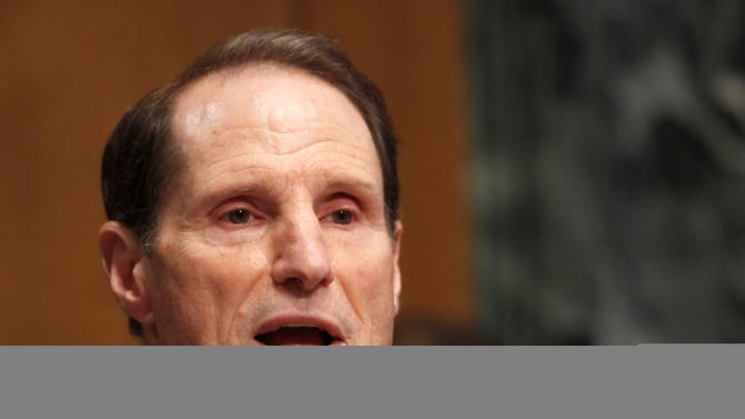 FILE - In this May 21, 2013 file photo, Senate Energy Committee Chairman Sen. Ron Wyden, D-Ore. speaks on Capitol Hill in Washington. Wyden says a website partially funded by the oil and gas industry is a constructive tool that could be used by federal regulators in requiring public disclosure of the chemicals used in hydraulic fracturing operations. (AP Photo/Charles Dharapak, File)