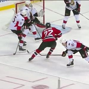 Eric Gelinas snaps it past Lehner