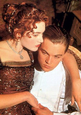 Kate Winslet and Leonardo DiCaprio in Paramount's Titanic