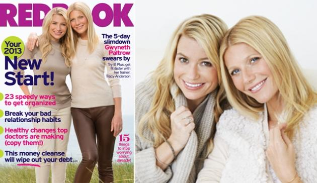 Tracy Anderson and Gwyneth Paltrow on the cover of Redbook -- Redbook