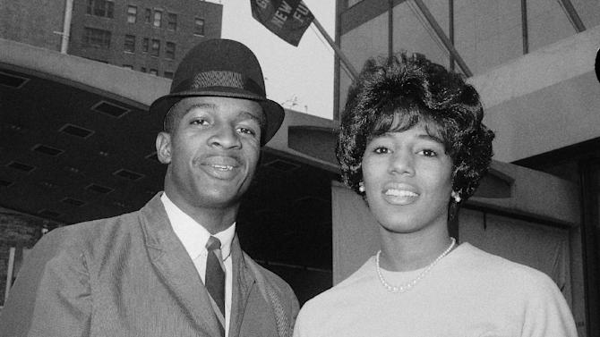 FILE - In this June 9, 1963 file photo, James A. Hood and Vivian J. Malone of Alabama pose in New York. Alabama Gov. George Wallace said he would personally bar them from registering at the University of Alabama despite a restraining order. Hood, one of the first black students at the University of Alabama, has died. He was 70. Officials at Adams-Buggs Funeral Home in Gadsden said they are handling arrangements for Hood, who died Thursday, Jan. 17, 2013. Details concerning Hood's funeral are not complete, funeral home officials said.  (AP Photo/John Lindsay, File)