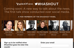 Yahoo to Launch '#HashOut' Social Talk Show