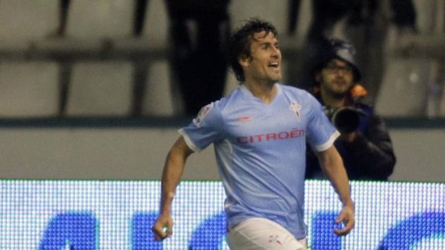 Bermejo celebrates scoring for Celta Vigo (reuters)
