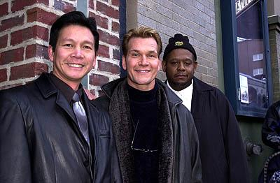 Don Duong, Patrick Swayze and Forest Whitaker of Green Dragon Sundance Film Festival Day 3 Park City, Utah 1/20/2001