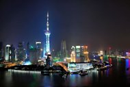 A night view of Shanghai