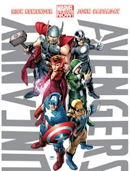 This image provided by Marvel Entertainment shows the cover of the first issue of &quot;Uncanny Avengers.&quot; In comics, the first issue is where the story starts and the legend begins. Marvel Entertainment, home to the Fantastic Four, the X-Men and the Avengers, among others, is making more than 700 first issues available to digital readers starting Sunday, March 10, 2013, via its app and website. (AP Photo/Marvel Entertainment)