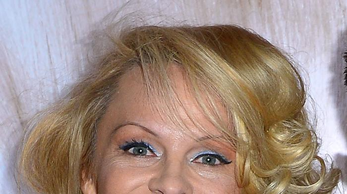 Pamela Anderson Attends The International Beauty Show