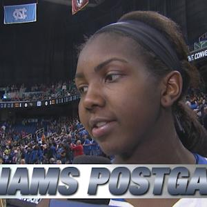Duke's Elizabeth Williams on Quarterfinal Win Over Wake Forest