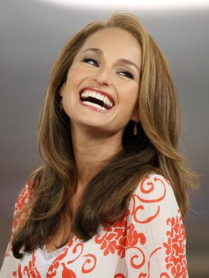 """FILE - Celebrity chef Giada De Laurentiis appears on the NBC """"Today"""" television program in New York in this  Wednesday, Aug. 19, 2009 file photo. De Laurentiis has signed with Grosset & Dunlap, an imprint of Penguin Group (USA), for a children's book series called """"Recipe for Adventure"""" the publisher announced Thursday March 21, 2013. (AP Photo/Richard Drew, File)"""