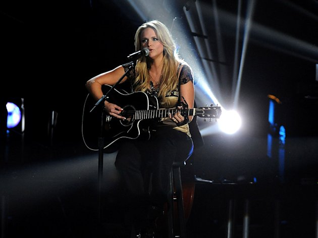 Musician Miranda Lambert performs &quot;More Like Her&quot; on stage during the 42nd Annual CMA Awards at the Sommet Center on November 12, 2008 in Nashville, Tennessee. 