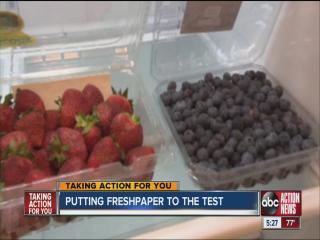 Consumer Reports checks Freshpaper claims to keep produce fresh