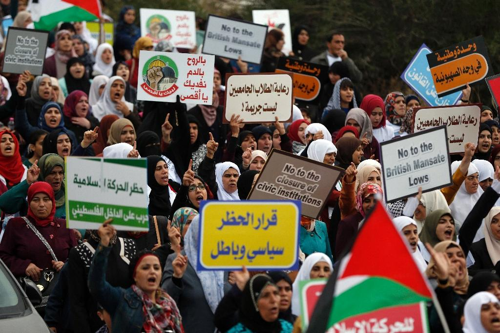 Thousands of Arab Israelis protest Islamic Movement ban