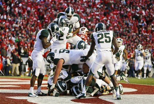 Michigan State beats Wisconsin in OT, 16-13