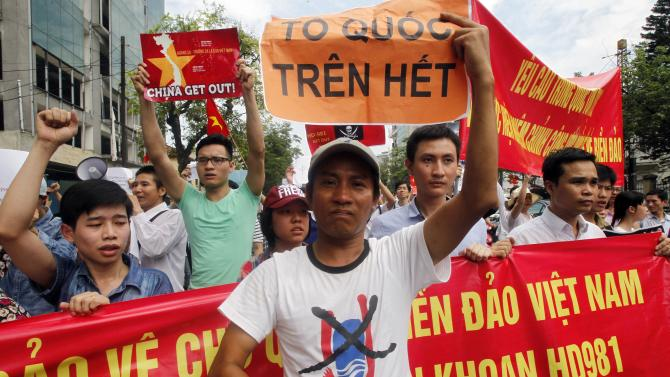 anti-China protest in Hanoi