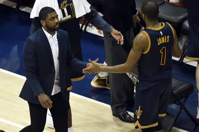 Kyrie Irving out for Game 3, continues to recover from knee injury
