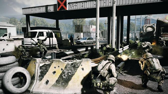 """This undated publicity photo released by DICE/Electronic Arts shows a scene from the video game, """"Battlefield 3.""""  (AP Photo/DICE/Electronic Arts)"""