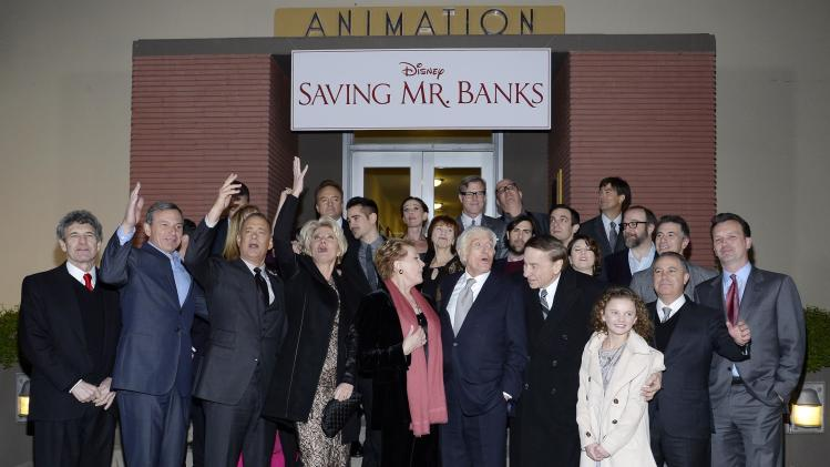 "Studio executives, actors and Van Dyke and Sherman attend the film premiere of ""Saving Mr. Banks,"" at the Walt Disney Studios in Burbank"