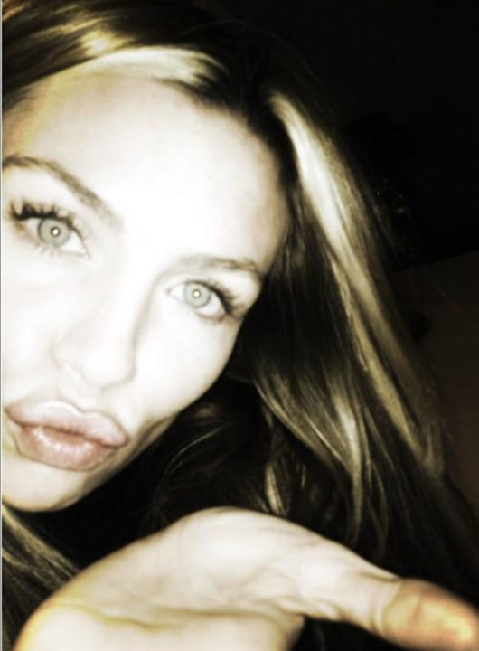 Celebrity Twitpics: Abbey Clancy tweeted this photo to her followers on her birthday earlier this week. She tweeted it alongside the caption: Birthday kisses!