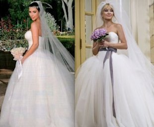 Kim Kardashian's Vera Wang wedding dress looks a lot like the one Kate Hudson wore in
