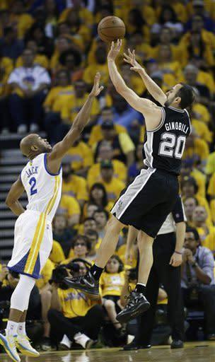Warriors beat Spurs 97-87 in OT, even series 2-2