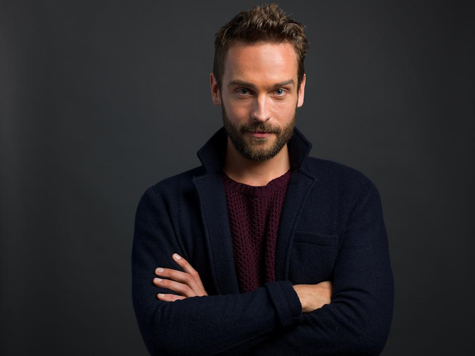 "In this Monday, Jan. 13, 2014 photo, English actor and star of the FOX network series ""Sleepy Hollow,"" Tom Mison poses for a portrait, in New York. (Photo by Scott Gries/Invision/AP))"