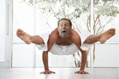 Harry Redknapp tries yoga