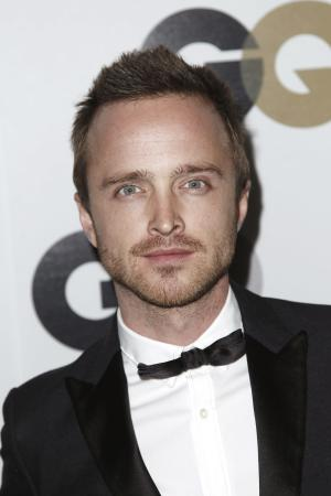 "FILE - In this Nov. 17, 2011 file photo, actor Aaron Paul arrives at the 16th annual GQ ""Men of the Year"" party in Los Angeles. Paul tweeted this week that he was burglarized twice while shooting his hit series ""Breaking Bad,"" in Albuquerque. (AP Photo/Matt Sayles, file)"