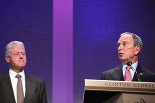 Clinton, Bloomberg unveil new project