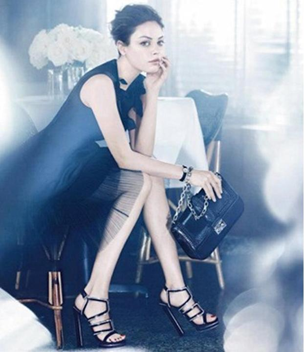 Celebrity advertising campaigns: Mila Kunis went feminine and flirty for Dior, ensuring attention stayed on her full lips. Classy but still coquettish!