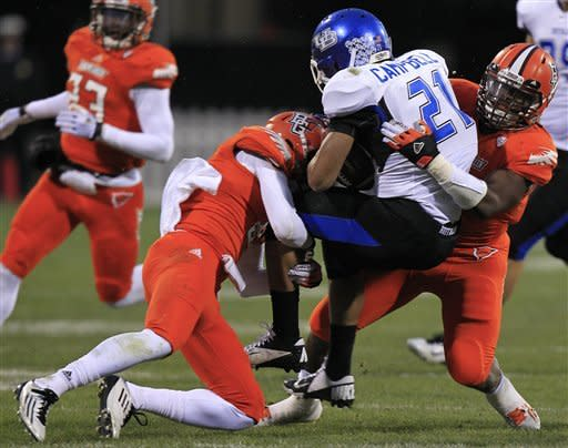 Pettigrew, Bowling Green run over Buffalo 21-7