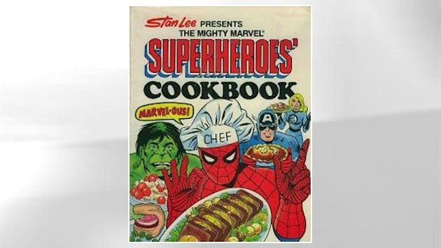 Vintage Cookbook Chronicles What Superheroes Eat (ABC News)