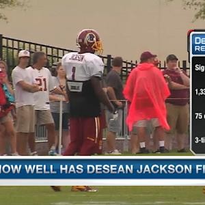Washington Redskins wide receiver DeSean Jackson's friendly rivalry with teammate DeAngelo Hall