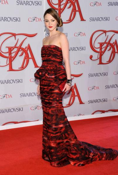 Model Devon Aoki attends the 2012 CFDA Fashion Awards at Alice Tully Hall wearing Alice   Olivia. June 4, 2012 in New York City. (Photo by Jamie McCarthy/Getty Images)