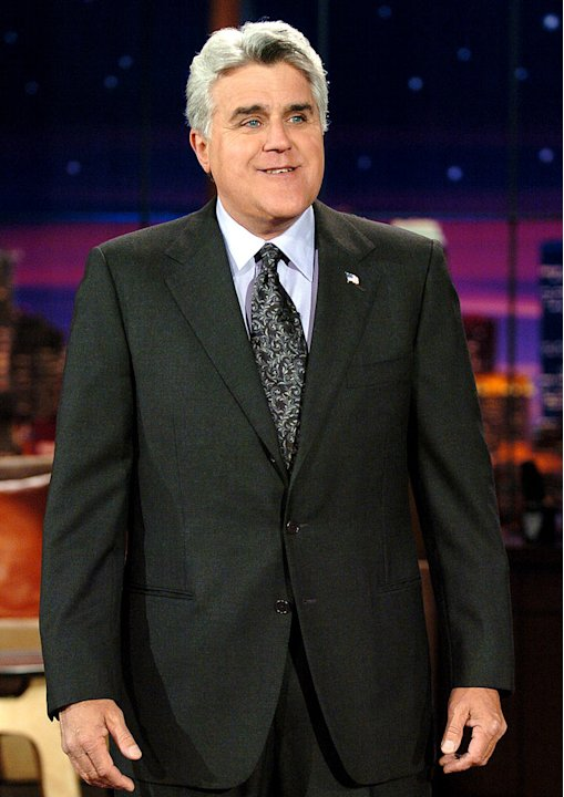 "Jay Leno hosts ""The Tonight Show with Jay Leno."""