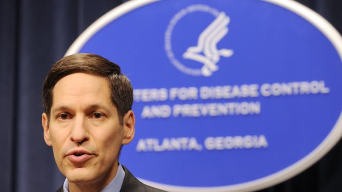 FILE - Dr. Thomas R. Frieden, Director of the Centers for Disease Control and Prevention, is shown at the agency's headquarters on in this Sept. 3, 2009 file photo taken in Atlanta. The U.S. Centers for Disease Control and Prevention lost or misplaced more than $8 million in property in 2007, losing track of items including computer and video equipment, government auditors say. Frieden wrote the inspector general that the CDC agrees with the report's conclusions and has now instituted better controls.  (AP Photo/Erik S. Lesser, File)