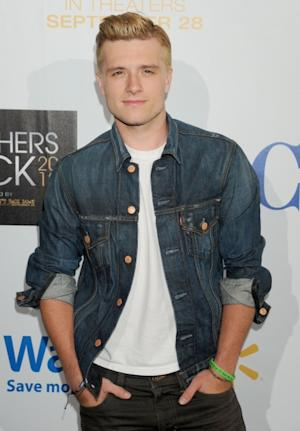 Josh Hutcherson -- rocking his blond 'Hunger Games' hair -- is seen at the 'Teachers Rock' benefit in Los Angeles on August 14, 2012 -- Getty Premium