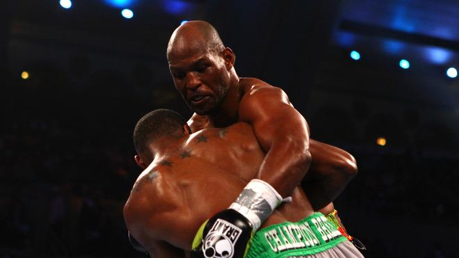 Bernard Hopkins (black Trunks) Gets Getty Images