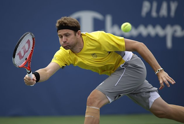The last match Mardy Fish played on the ATP Tour was August 20, 2013 in Winston Salem, North Carolina. (Photo by Bob Leverone/Getty Images)