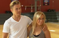 Derek Hough and Shawn Johnson chat with Access Hollywood, Los Angeles, Sept. 9, 2012 -- Access Hollywood