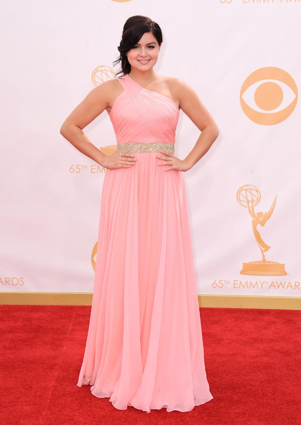 Ariel Winter arrives at the 65th Primetime Emmy Awards at Nokia Theatre on Sunday, Sept. 22, 2013, in Los Angeles. (Photo by Jordan Strauss/Invision/AP)
