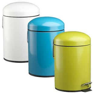 Covered Trash Cans