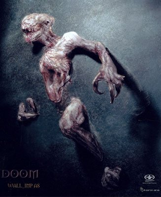 Concept sketch from Stan Winston Studios for Universal Pictures' Doom