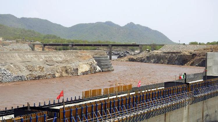 A picture taken on May 28, 2013 shows the Blue Nile in Guba, Ethiopia, during its diversion ceremony