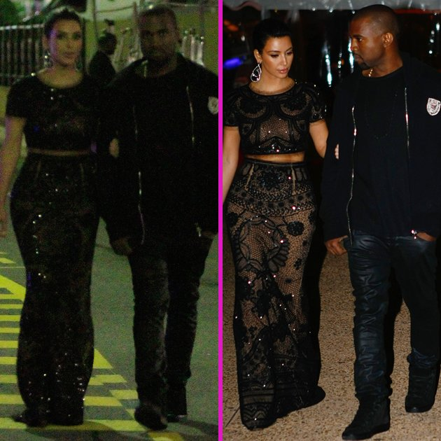Kim kardashian and Kanye West Cannes