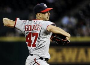 Gonzalez pitches, hits Nats to 4-3 win over Astros