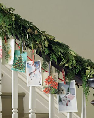 Creative ways to display your holiday cards!