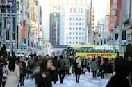 Shoppers in the Ginza shopping district in Tokyo pictured in December 1, 2012. The sound of Mandarin-speaking tourists and the cash tills they set ringing have become rare in Tokyo&#39;s upmarket Ginza district, retailers say, since a flare-up in an island row between China and Japan